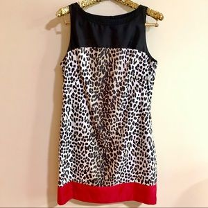 White House Black Market Animal Print Dress